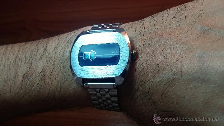 Relojes de pulsera: Reloj Suizo NILDA de cuerda DIGITAL, años 70, de los primeros digitales de carga manual - Foto 9 - 66126355