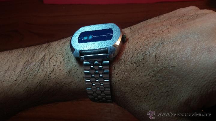 Relojes de pulsera: Reloj Suizo NILDA de cuerda DIGITAL, años 70, de los primeros digitales de carga manual - Foto 10 - 66126355