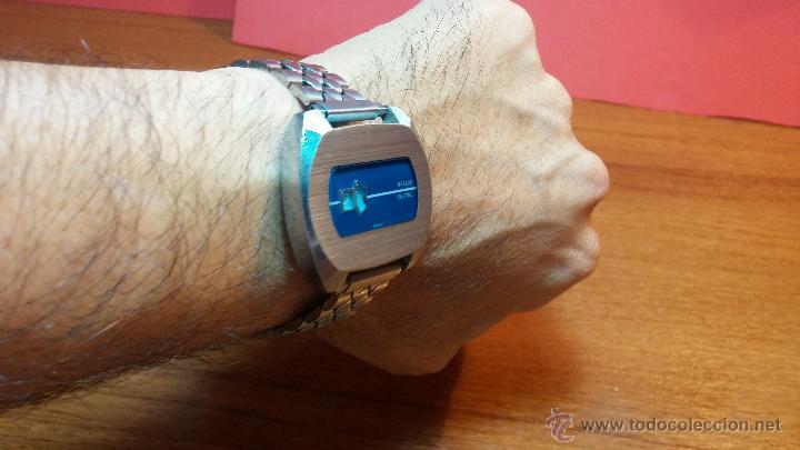 Relojes de pulsera: Reloj Suizo NILDA de cuerda DIGITAL, años 70, de los primeros digitales de carga manual - Foto 13 - 66126355