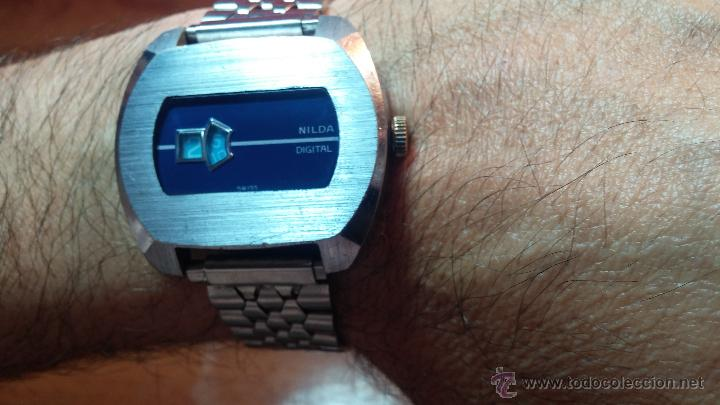 Relojes de pulsera: Reloj Suizo NILDA de cuerda DIGITAL, años 70, de los primeros digitales de carga manual - Foto 15 - 66126355