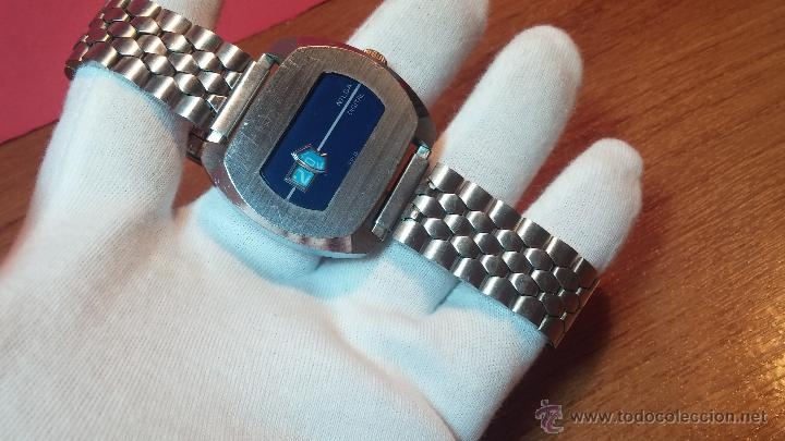 Relojes de pulsera: Reloj Suizo NILDA de cuerda DIGITAL, años 70, de los primeros digitales de carga manual - Foto 31 - 66126355