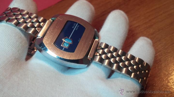 Relojes de pulsera: Reloj Suizo NILDA de cuerda DIGITAL, años 70, de los primeros digitales de carga manual - Foto 32 - 66126355