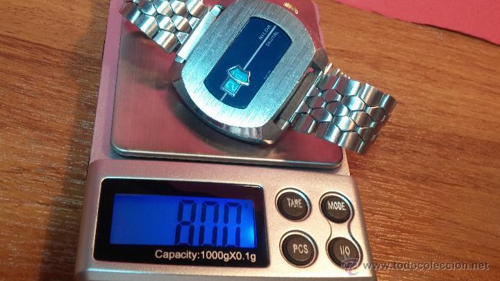 Relojes de pulsera: Reloj Suizo NILDA de cuerda DIGITAL, años 70, de los primeros digitales de carga manual - Foto 34 - 66126355