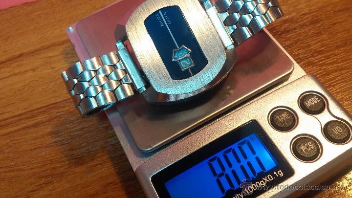 Relojes de pulsera: Reloj Suizo NILDA de cuerda DIGITAL, años 70, de los primeros digitales de carga manual - Foto 35 - 66126355