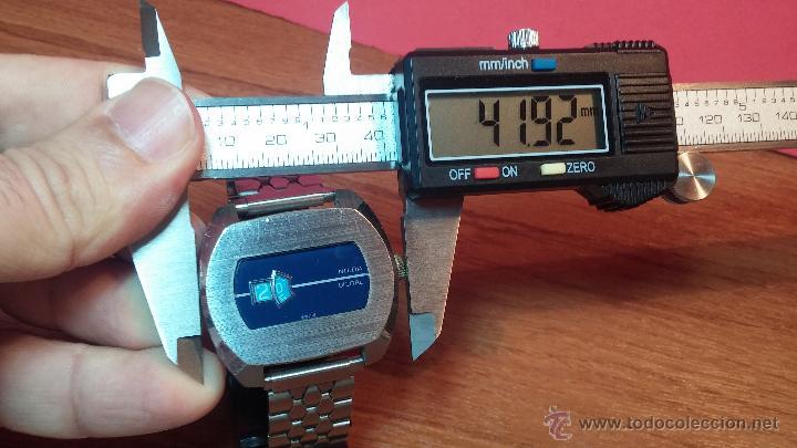 Relojes de pulsera: Reloj Suizo NILDA de cuerda DIGITAL, años 70, de los primeros digitales de carga manual - Foto 36 - 66126355