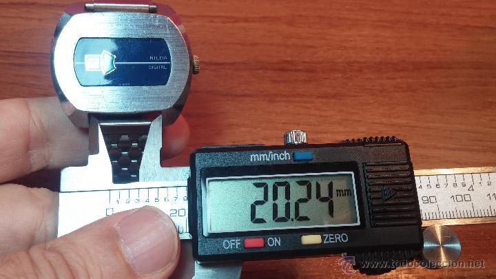 Relojes de pulsera: Reloj Suizo NILDA de cuerda DIGITAL, años 70, de los primeros digitales de carga manual - Foto 38 - 66126355