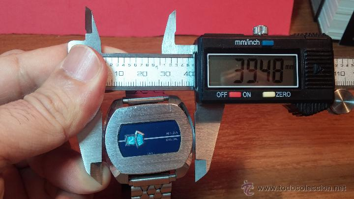 Relojes de pulsera: Reloj Suizo NILDA de cuerda DIGITAL, años 70, de los primeros digitales de carga manual - Foto 40 - 66126355