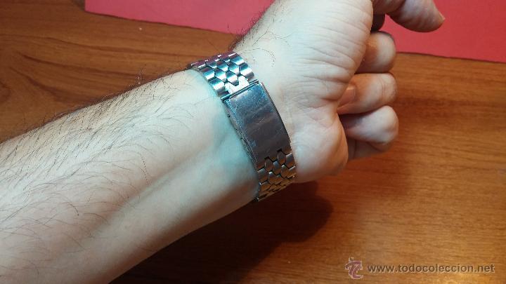 Relojes de pulsera: Reloj Suizo NILDA de cuerda DIGITAL, años 70, de los primeros digitales de carga manual - Foto 41 - 66126355