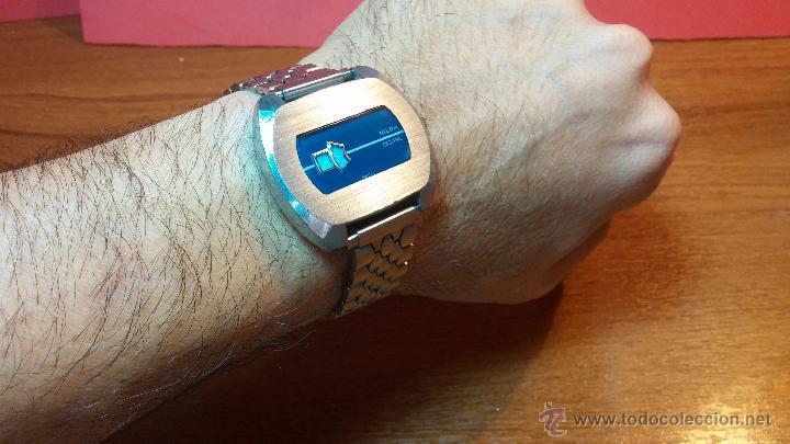 Relojes de pulsera: Reloj Suizo NILDA de cuerda DIGITAL, años 70, de los primeros digitales de carga manual - Foto 42 - 66126355