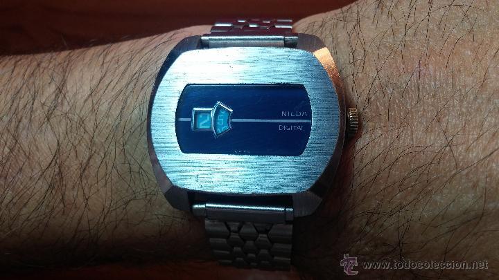 Relojes de pulsera: Reloj Suizo NILDA de cuerda DIGITAL, años 70, de los primeros digitales de carga manual - Foto 44 - 66126355