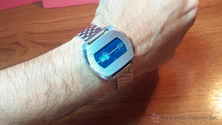 Relojes de pulsera: Reloj Suizo NILDA de cuerda DIGITAL, años 70, de los primeros digitales de carga manual - Foto 47 - 66126355
