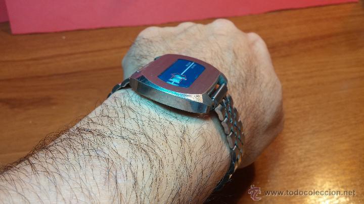 Relojes de pulsera: Reloj Suizo NILDA de cuerda DIGITAL, años 70, de los primeros digitales de carga manual - Foto 48 - 66126355