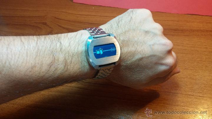 Relojes de pulsera: Reloj Suizo NILDA de cuerda DIGITAL, años 70, de los primeros digitales de carga manual - Foto 49 - 66126355
