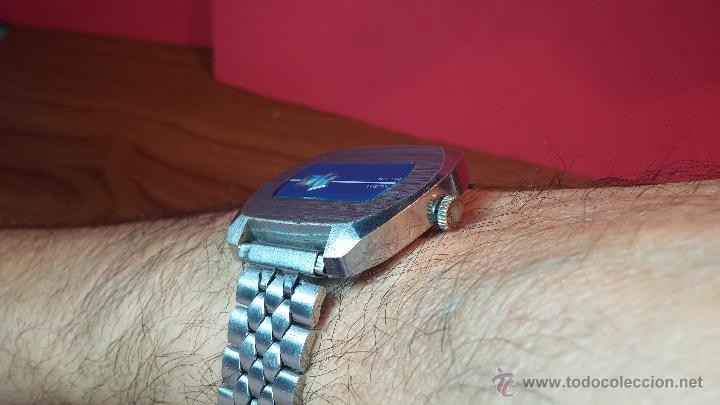 Relojes de pulsera: Reloj Suizo NILDA de cuerda DIGITAL, años 70, de los primeros digitales de carga manual - Foto 53 - 66126355