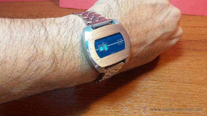 Relojes de pulsera: Reloj Suizo NILDA de cuerda DIGITAL, años 70, de los primeros digitales de carga manual - Foto 56 - 66126355
