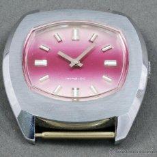 Relojes de pulsera: RELOJ A CUERDA VANROY INCABLOC COLOR ROSA FUNCIONA. Lote 54389357