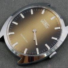 Relojes de pulsera: RELOJ A CUERDA VANROY INCABLOC ESFERA MARRÓN FUNCIONA . Lote 54390265