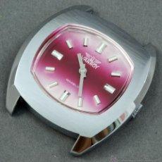 Relojes de pulsera: RELOJ A CUERDA VANROY ESFERA ROSA FUNCIONA. Lote 54391078