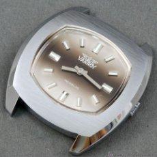 Relojes de pulsera: RELOJ A CUERDA VANROY INCABLOC ESFERA GRIS FUNCIONA. Lote 54391293