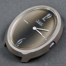 Relojes de pulsera: RELOJ A CUERDA VANROY ESFERA VERDE OVALADA FUNCIONA. Lote 54404850
