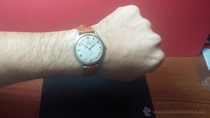 Relojes de pulsera: RELOJ Suizo CAUNY PRIMA, LA CHAUX DE FONS, escaso CAL. F-399, ancre 17 rubis, grande, Antimagnetic - Foto 2 - 54420927