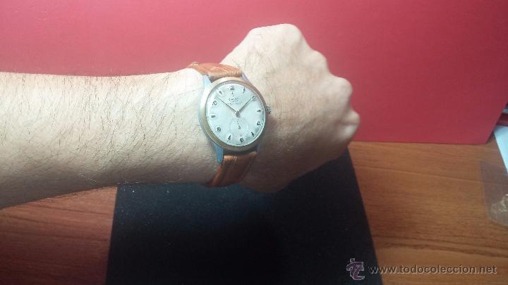 Relojes de pulsera: RELOJ Suizo CAUNY PRIMA, LA CHAUX DE FONS, escaso CAL. F-399, ancre 17 rubis, grande, Antimagnetic - Foto 3 - 54420927