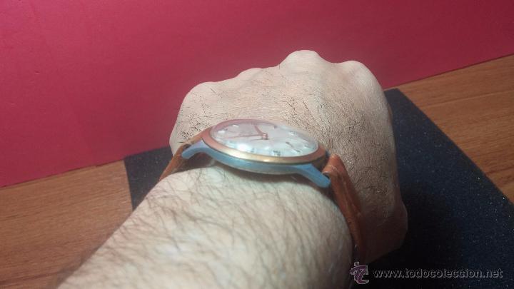 Relojes de pulsera: RELOJ Suizo CAUNY PRIMA, LA CHAUX DE FONS, escaso CAL. F-399, ancre 17 rubis, grande, Antimagnetic - Foto 7 - 54420927