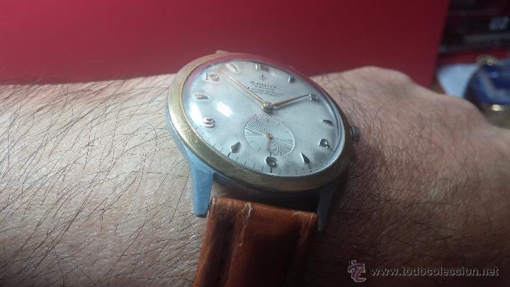 Relojes de pulsera: RELOJ Suizo CAUNY PRIMA, LA CHAUX DE FONS, escaso CAL. F-399, ancre 17 rubis, grande, Antimagnetic - Foto 8 - 54420927