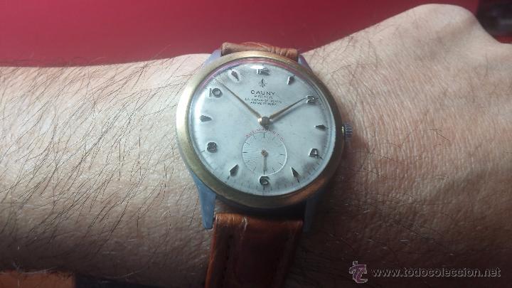 Relojes de pulsera: RELOJ Suizo CAUNY PRIMA, LA CHAUX DE FONS, escaso CAL. F-399, ancre 17 rubis, grande, Antimagnetic - Foto 9 - 54420927