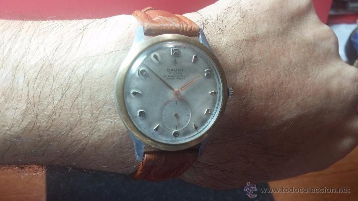 Relojes de pulsera: RELOJ Suizo CAUNY PRIMA, LA CHAUX DE FONS, escaso CAL. F-399, ancre 17 rubis, grande, Antimagnetic - Foto 10 - 54420927