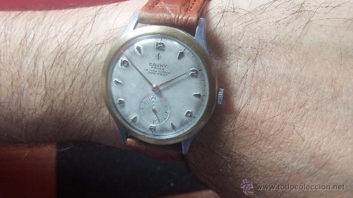 Relojes de pulsera: RELOJ Suizo CAUNY PRIMA, LA CHAUX DE FONS, escaso CAL. F-399, ancre 17 rubis, grande, Antimagnetic - Foto 11 - 54420927