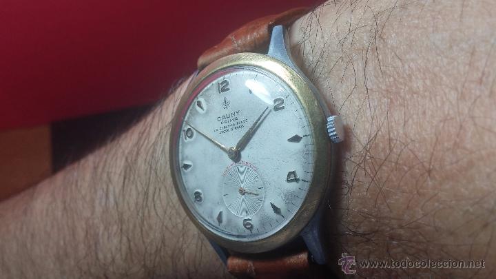 Relojes de pulsera: RELOJ Suizo CAUNY PRIMA, LA CHAUX DE FONS, escaso CAL. F-399, ancre 17 rubis, grande, Antimagnetic - Foto 13 - 54420927