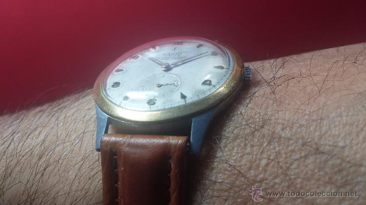 Relojes de pulsera: RELOJ Suizo CAUNY PRIMA, LA CHAUX DE FONS, escaso CAL. F-399, ancre 17 rubis, grande, Antimagnetic - Foto 14 - 54420927