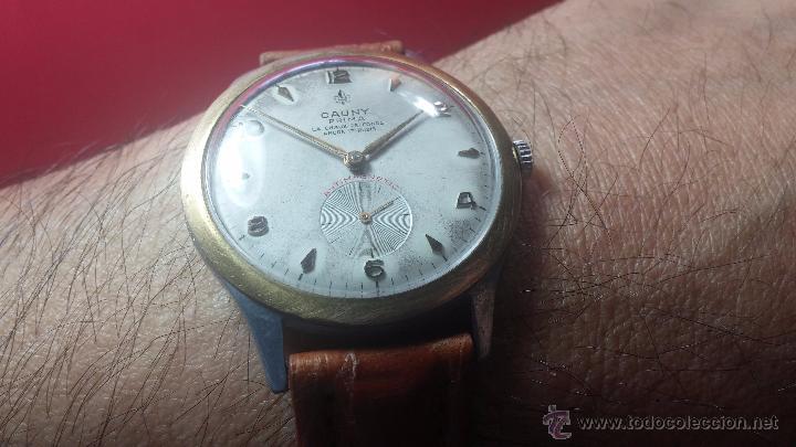Relojes de pulsera: RELOJ Suizo CAUNY PRIMA, LA CHAUX DE FONS, escaso CAL. F-399, ancre 17 rubis, grande, Antimagnetic - Foto 15 - 54420927