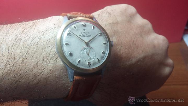 Relojes de pulsera: RELOJ Suizo CAUNY PRIMA, LA CHAUX DE FONS, escaso CAL. F-399, ancre 17 rubis, grande, Antimagnetic - Foto 16 - 54420927