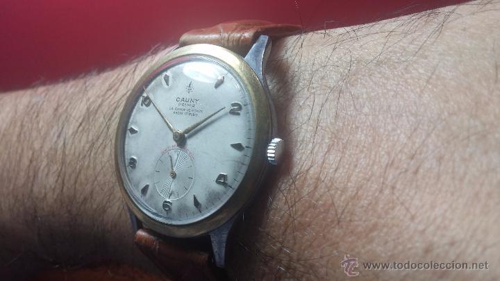 Relojes de pulsera: RELOJ Suizo CAUNY PRIMA, LA CHAUX DE FONS, escaso CAL. F-399, ancre 17 rubis, grande, Antimagnetic - Foto 18 - 54420927