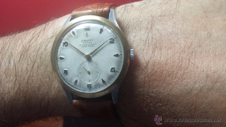 Relojes de pulsera: RELOJ Suizo CAUNY PRIMA, LA CHAUX DE FONS, escaso CAL. F-399, ancre 17 rubis, grande, Antimagnetic - Foto 19 - 54420927