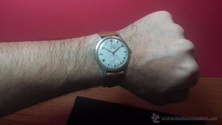 Relojes de pulsera: RELOJ Suizo CAUNY PRIMA, LA CHAUX DE FONS, escaso CAL. F-399, ancre 17 rubis, grande, Antimagnetic - Foto 22 - 54420927
