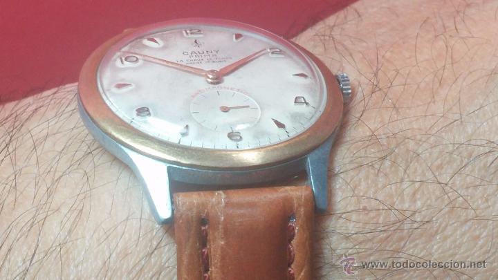 Relojes de pulsera: RELOJ Suizo CAUNY PRIMA, LA CHAUX DE FONS, escaso CAL. F-399, ancre 17 rubis, grande, Antimagnetic - Foto 25 - 54420927