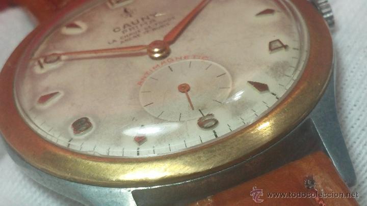 Relojes de pulsera: RELOJ Suizo CAUNY PRIMA, LA CHAUX DE FONS, escaso CAL. F-399, ancre 17 rubis, grande, Antimagnetic - Foto 34 - 54420927