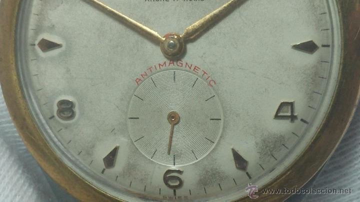 Relojes de pulsera: RELOJ Suizo CAUNY PRIMA, LA CHAUX DE FONS, escaso CAL. F-399, ancre 17 rubis, grande, Antimagnetic - Foto 35 - 54420927