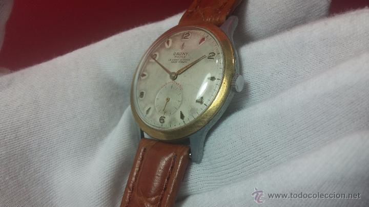 Relojes de pulsera: RELOJ Suizo CAUNY PRIMA, LA CHAUX DE FONS, escaso CAL. F-399, ancre 17 rubis, grande, Antimagnetic - Foto 38 - 54420927