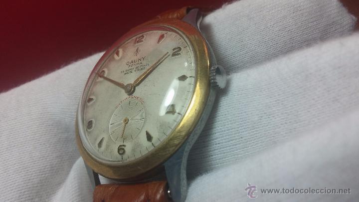 Relojes de pulsera: RELOJ Suizo CAUNY PRIMA, LA CHAUX DE FONS, escaso CAL. F-399, ancre 17 rubis, grande, Antimagnetic - Foto 43 - 54420927