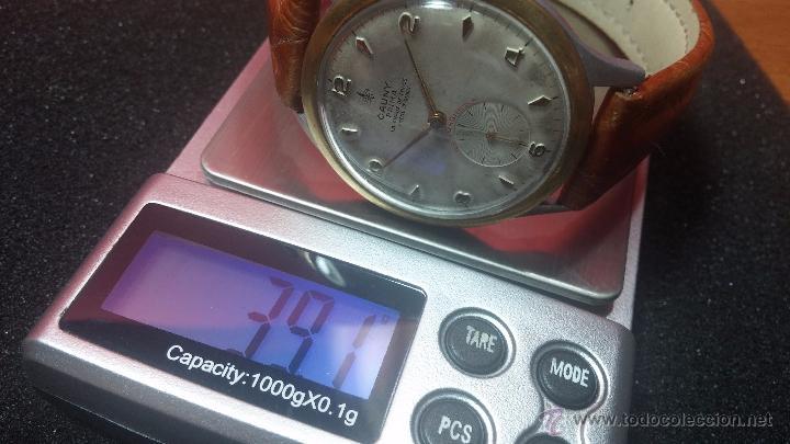 Relojes de pulsera: RELOJ Suizo CAUNY PRIMA, LA CHAUX DE FONS, escaso CAL. F-399, ancre 17 rubis, grande, Antimagnetic - Foto 44 - 54420927