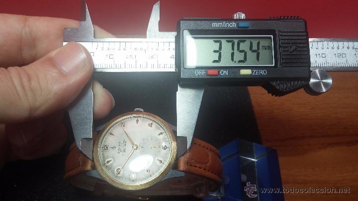 Relojes de pulsera: RELOJ Suizo CAUNY PRIMA, LA CHAUX DE FONS, escaso CAL. F-399, ancre 17 rubis, grande, Antimagnetic - Foto 46 - 54420927