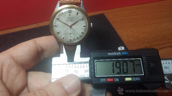 Relojes de pulsera: RELOJ Suizo CAUNY PRIMA, LA CHAUX DE FONS, escaso CAL. F-399, ancre 17 rubis, grande, Antimagnetic - Foto 48 - 54420927