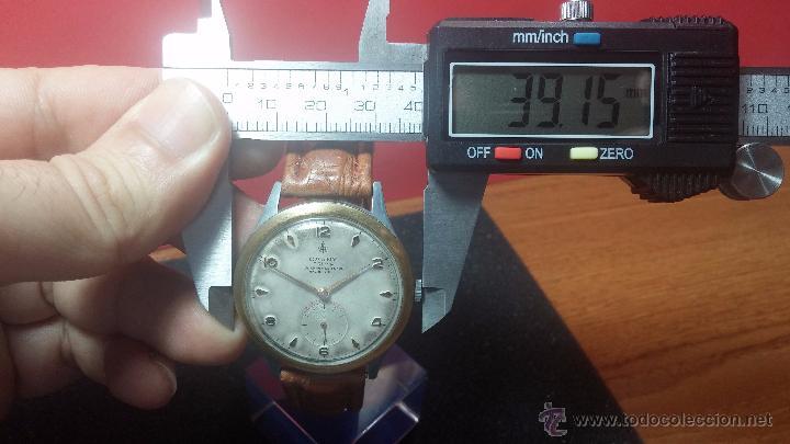 Relojes de pulsera: RELOJ Suizo CAUNY PRIMA, LA CHAUX DE FONS, escaso CAL. F-399, ancre 17 rubis, grande, Antimagnetic - Foto 49 - 54420927