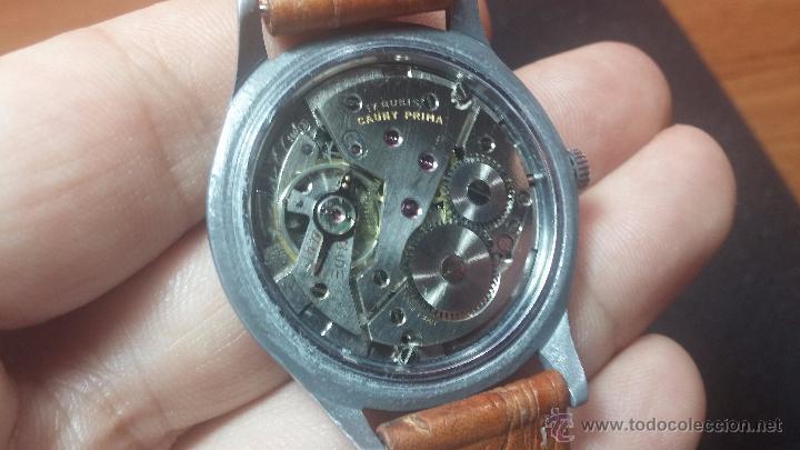 Relojes de pulsera: RELOJ Suizo CAUNY PRIMA, LA CHAUX DE FONS, escaso CAL. F-399, ancre 17 rubis, grande, Antimagnetic - Foto 51 - 54420927