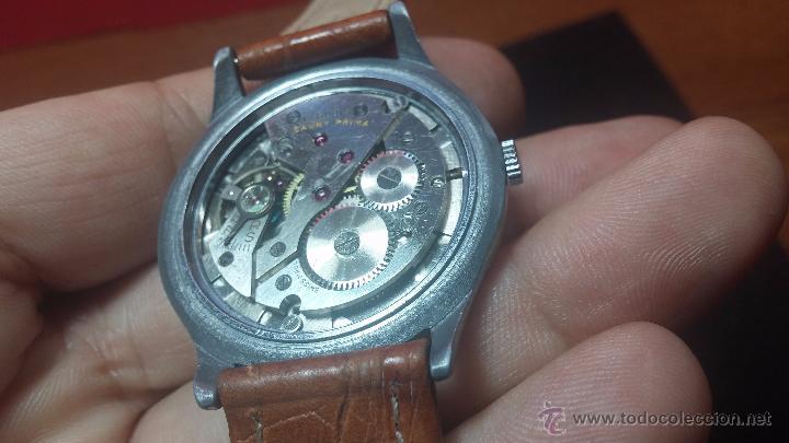 Relojes de pulsera: RELOJ Suizo CAUNY PRIMA, LA CHAUX DE FONS, escaso CAL. F-399, ancre 17 rubis, grande, Antimagnetic - Foto 52 - 54420927