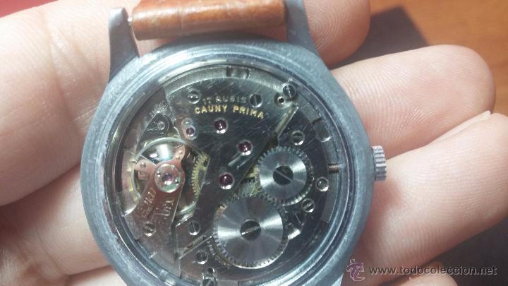 Relojes de pulsera: RELOJ Suizo CAUNY PRIMA, LA CHAUX DE FONS, escaso CAL. F-399, ancre 17 rubis, grande, Antimagnetic - Foto 53 - 54420927